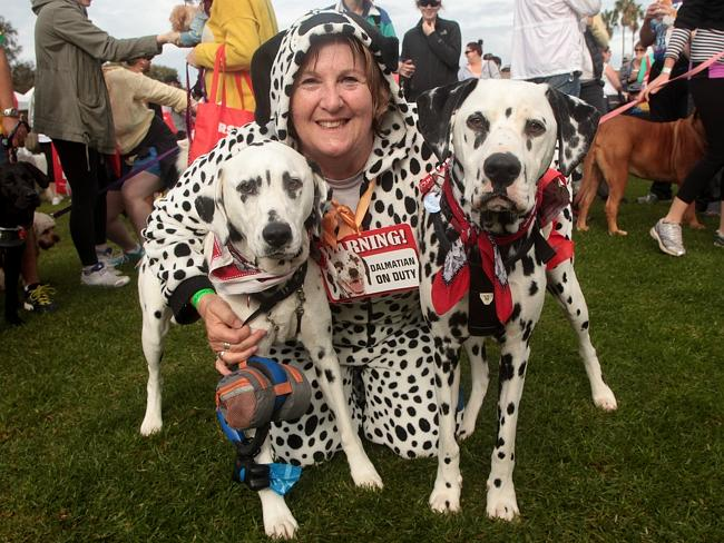 Luxy, Cleo and Jo at RSPCA Million Paws Walk